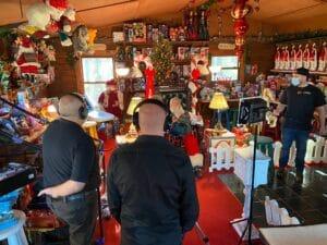 BVS Film Productions interviewing Santa
